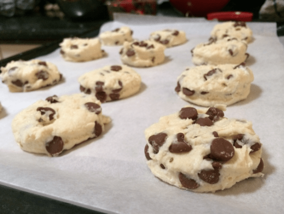 Choc Cross Scones in the making.
