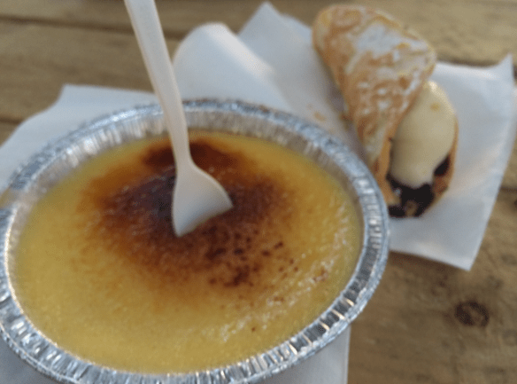 Luna 1878 - The Creme Brulee Cart - Creme Brulee and Cannoli