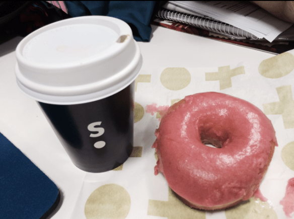 Short stop - Rhubarb & ginger doughnut