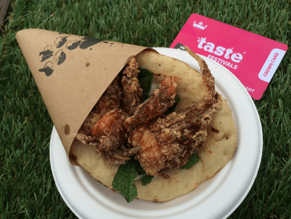 Taste of Melbourne 2014 - Gazi's Soft-shell Crab Souvalaki