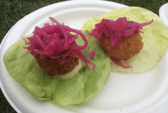 Taste of Melbourne 2014 - Sake's Tonkatsu cups (Panko Fried Pork Belly Bites)