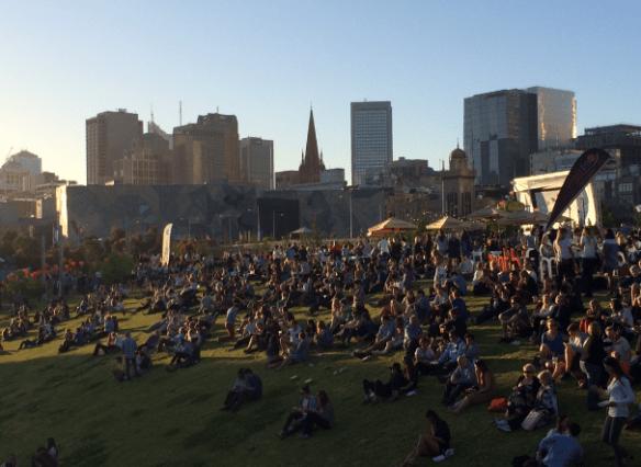 Night Noodle Market 2014 (Melbourne) - Grassy knoll
