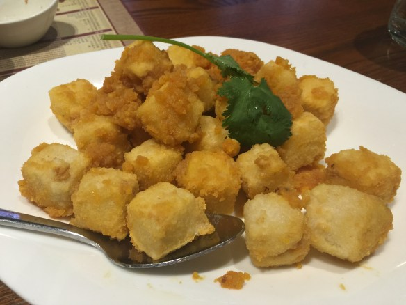 New Shanghai - Deep fried tofu w salted egg yolk