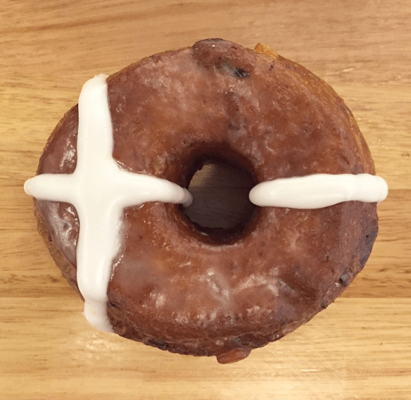 Melbourne Easter 2015 - Hot cross bun donut. Image credit: Short Stop
