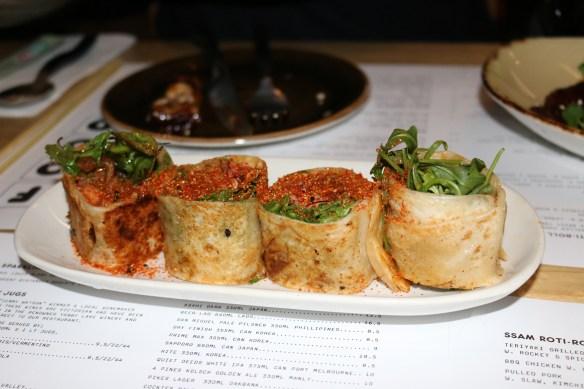 Kong - Salmon roti rolls