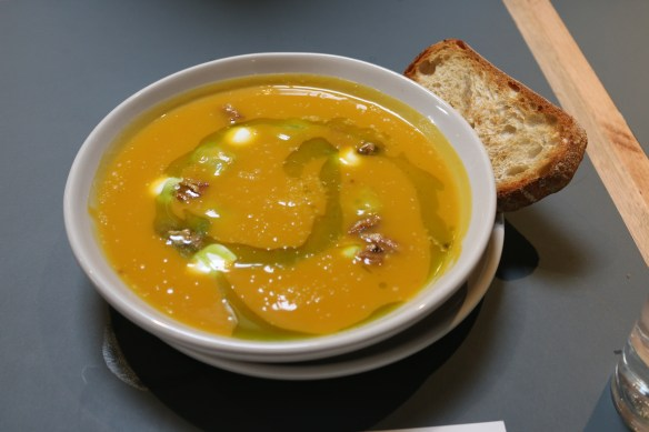 Broadsheet Restaurant - Butternut and nashi soup