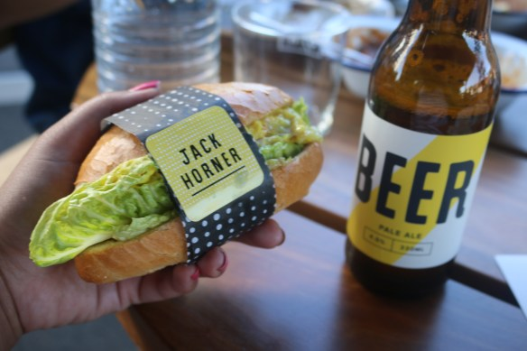 Jack Horner - Chicken baguette and local beer
