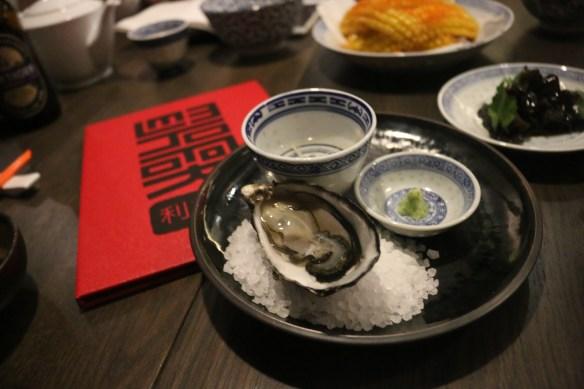 Lee Ho Fook - Oyster w ginger dressing & wasabi