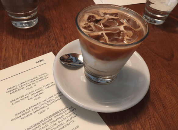 BAWA cafe - Iced latte