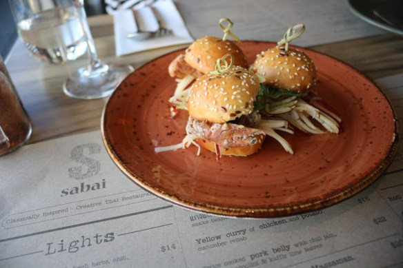 Sabai - Soft shell crab sliders
