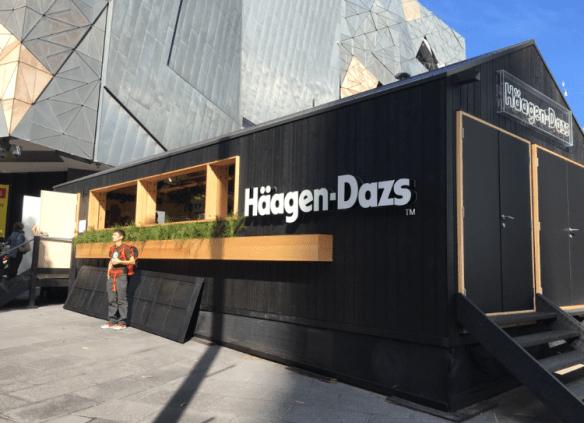 Haagen-Dazs Melbourne popup - Federation Square