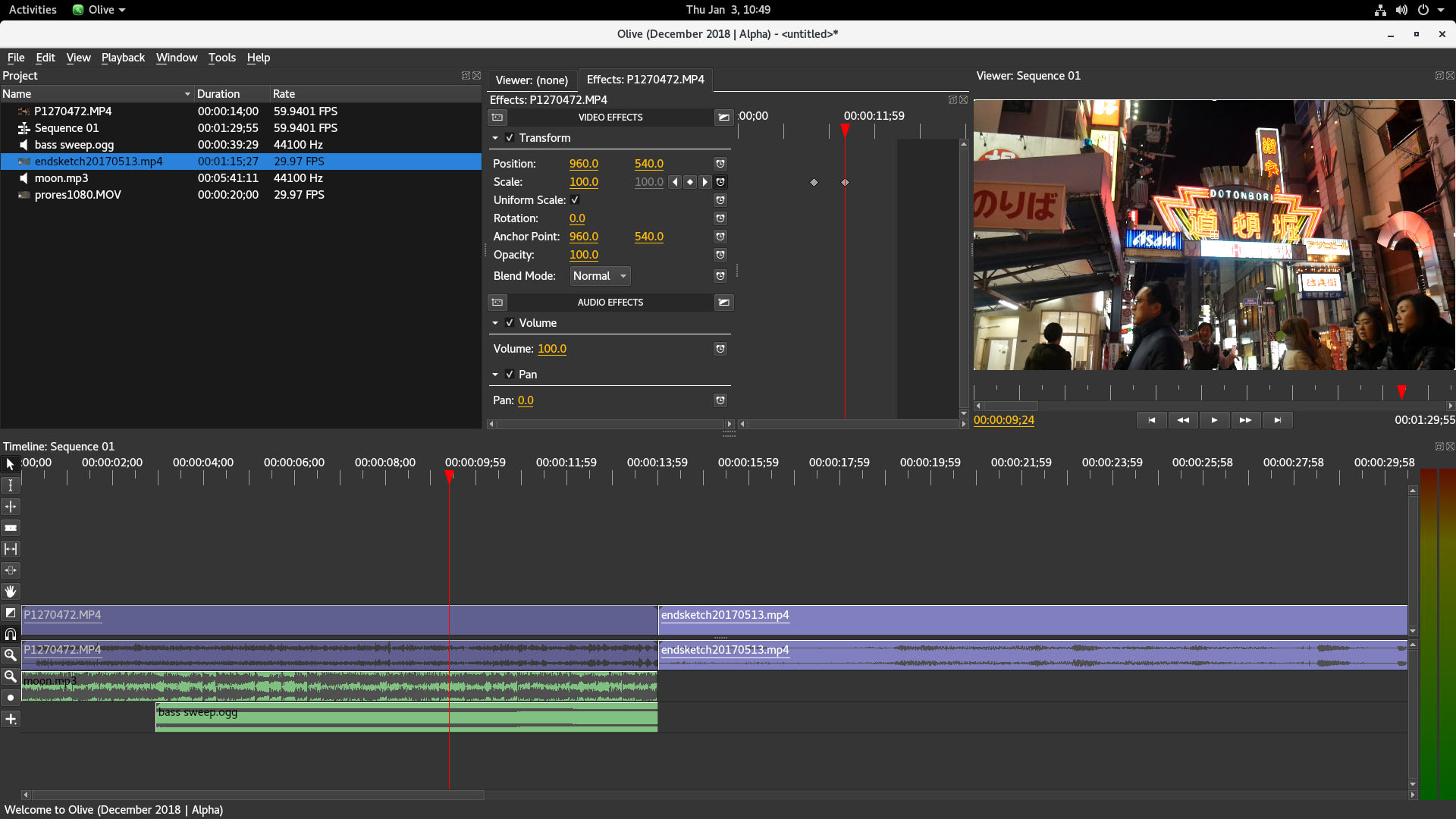 Editor Video Libre Olive Professional Open Source Video Editor
