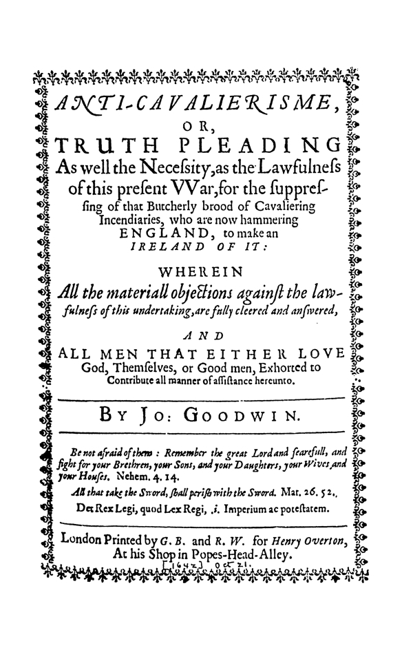 Tracts on Liberty by the Levellers and their Critics Vol 1 (1638