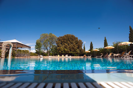 Swimming pool of the Farmhouse Gli Olmi, Cecina Tuscany