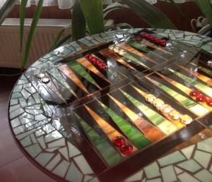 mozaik asztalka