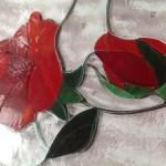 Ólomüveg rózsa ajtóba