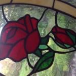 Tiffany rózsa motívum