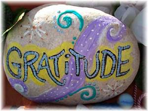 Gratitude on a rock