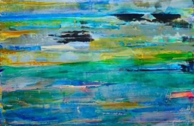 """""""Islands in the Sky,"""" acrylic by Debra Van Tuinen"""