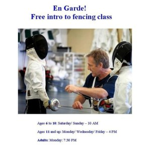 Free fencing class