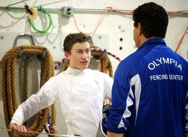 Josh with his coach Daniel Hondor