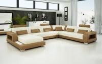Olympian Sofas Pesaro Light Brown Leather Sofa - Sectional ...