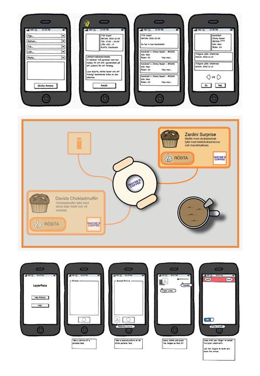 Mobile App Wireframes