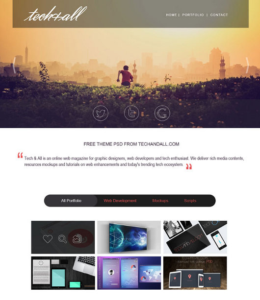 Top Articles and Free PSD Templates
