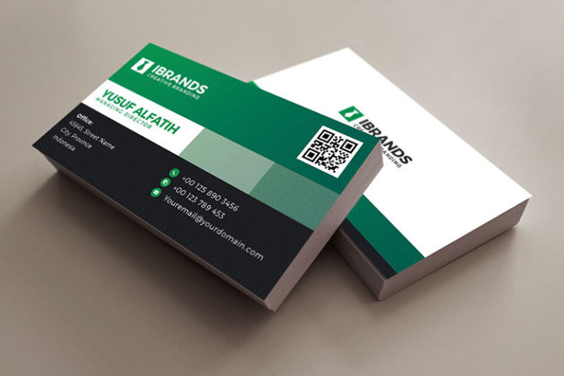 corporate business card template by ibrandstudio