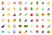 100 Colored Food & Drink Icons (EPS, SVG, PDF, PNG)