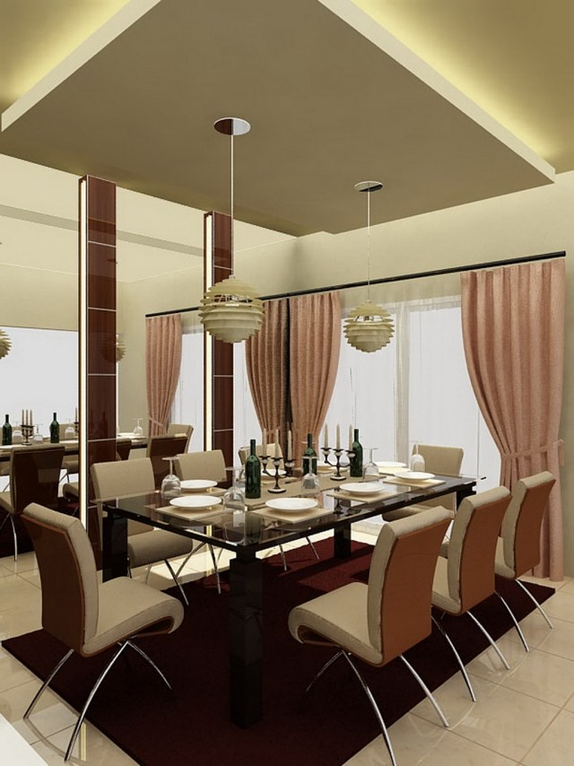 salle-à-manger-moderne-table-rectangulaire-verre-chaises Omaima Deco