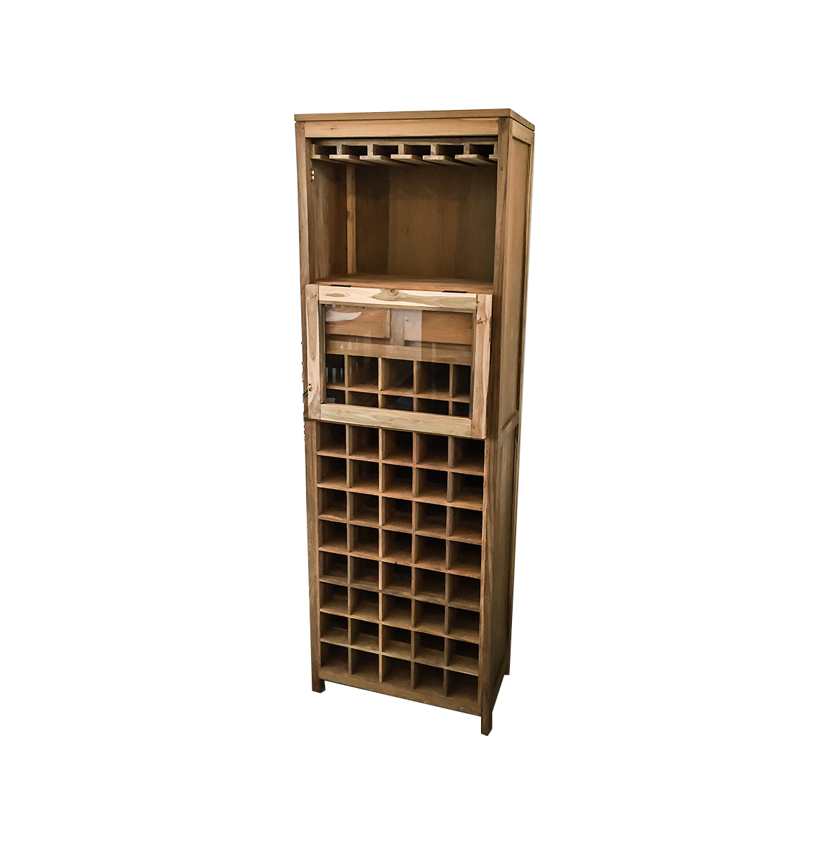 Wood Wine Storage Reclaimed Wood Wine Rack Solid Handmade Reclaimed Teak