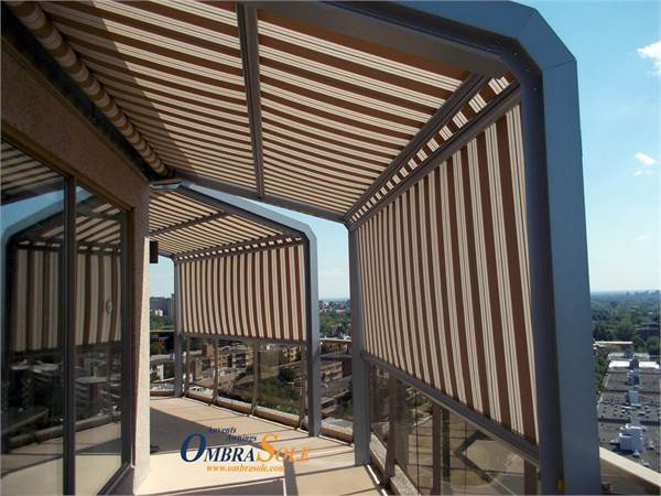 Store Vertical Terrasse Ombrasole Awnings | Fixed Retractable Awning - Attico