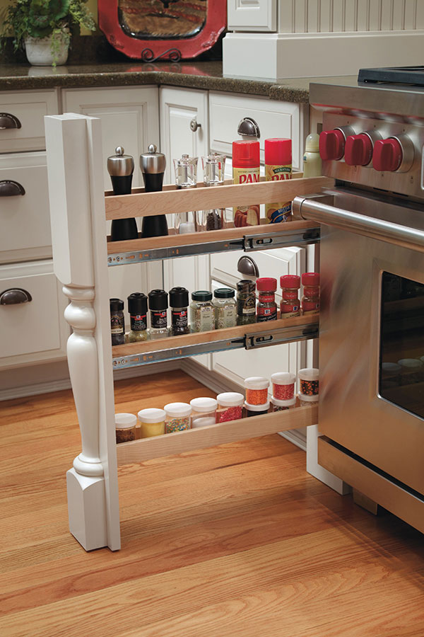 Houzz Store Column Spice Cabinet Pull Out With Split Leg - Omega