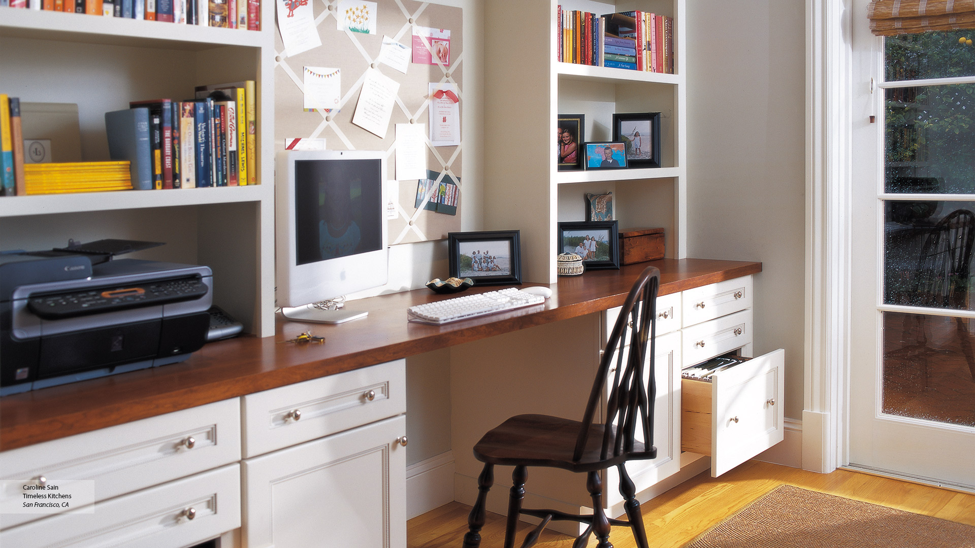 Home Office Cabinets Off White Cabinets In A Home Office Omega