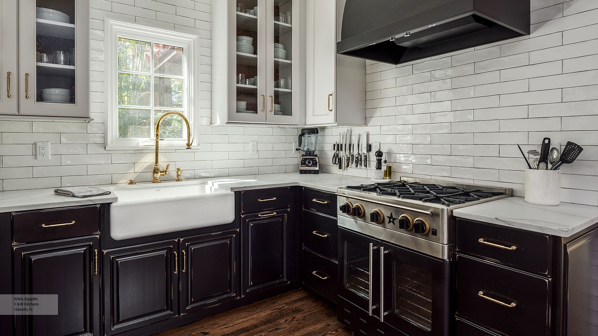 Cabinetry Orlando Transitional Black Maple Kitchen Cabinets In Custom Finish