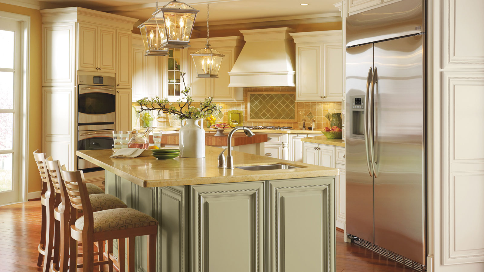 Glaze For Kitchen Cabinets Off White Cabinets With Glaze Omega Cabinetry