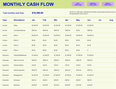 Cash flow statement - Office Templates