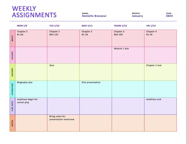 Ideas About Homework Planner Printable On Pinterest Mrs  Em s Math Mayhem
