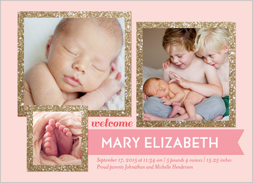 shutterfly birth announcements pink girl - OMG Photos - Baby Girl Birth Announcements