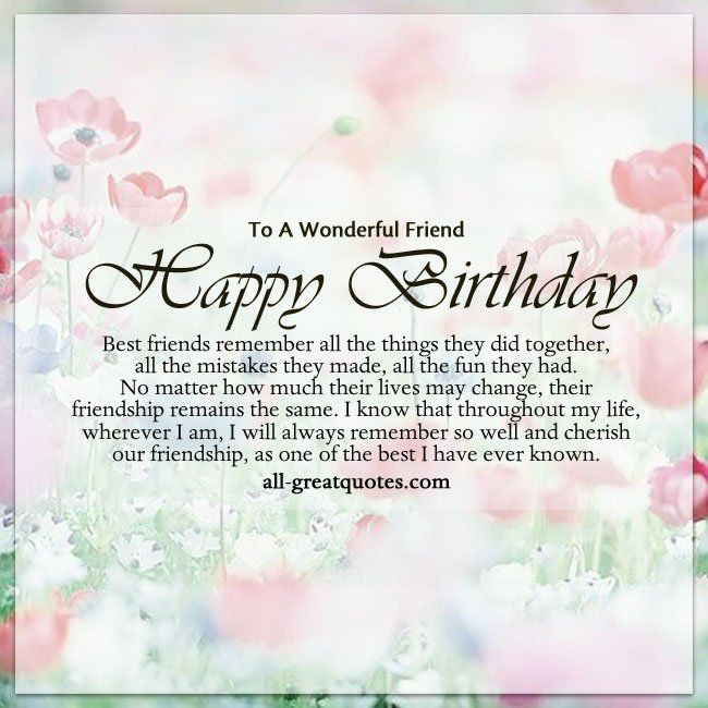 Best 25+ Happy birthday best friend quotes ideas on Pinterest - happy birthday card template free download