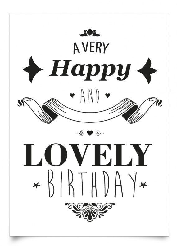 Birthday Quotes  Happy Birthday \u2013 black  white \u2013 OMG Quotes Your