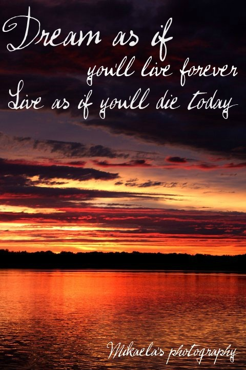 Inspirational  Positive Life Quotes  real sunset, meaningful quote
