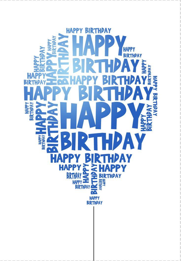 Happy Birthday Quotes Ideas  Free Printable Happy Birthday Balloon