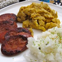 Hawaiian Food Traditions: Ted's Bakery and Portuguese Sausage, Rice, and Eggs