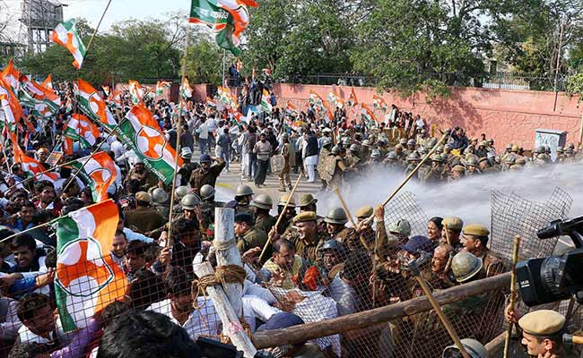 Congress protest against land bill