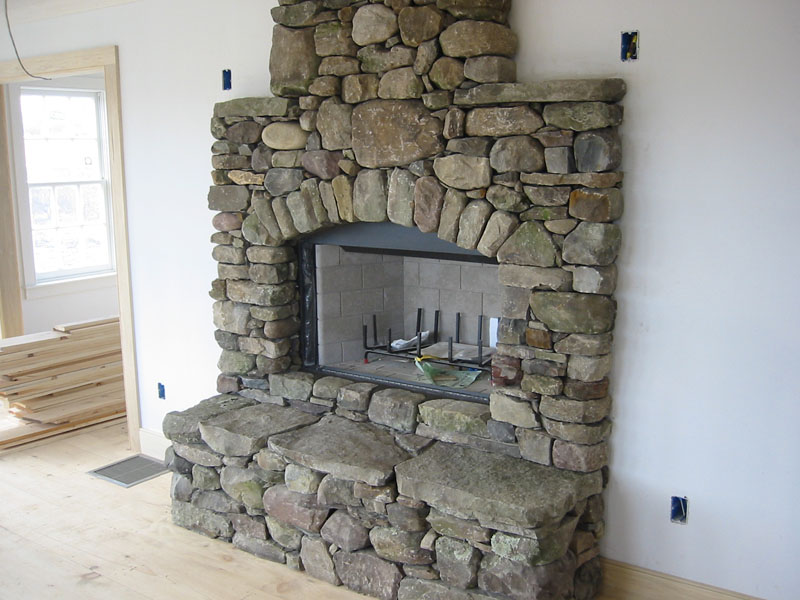 Feuerstelle Naturstein Stone Fireplace Pictures - Natural Stone, Manufactured