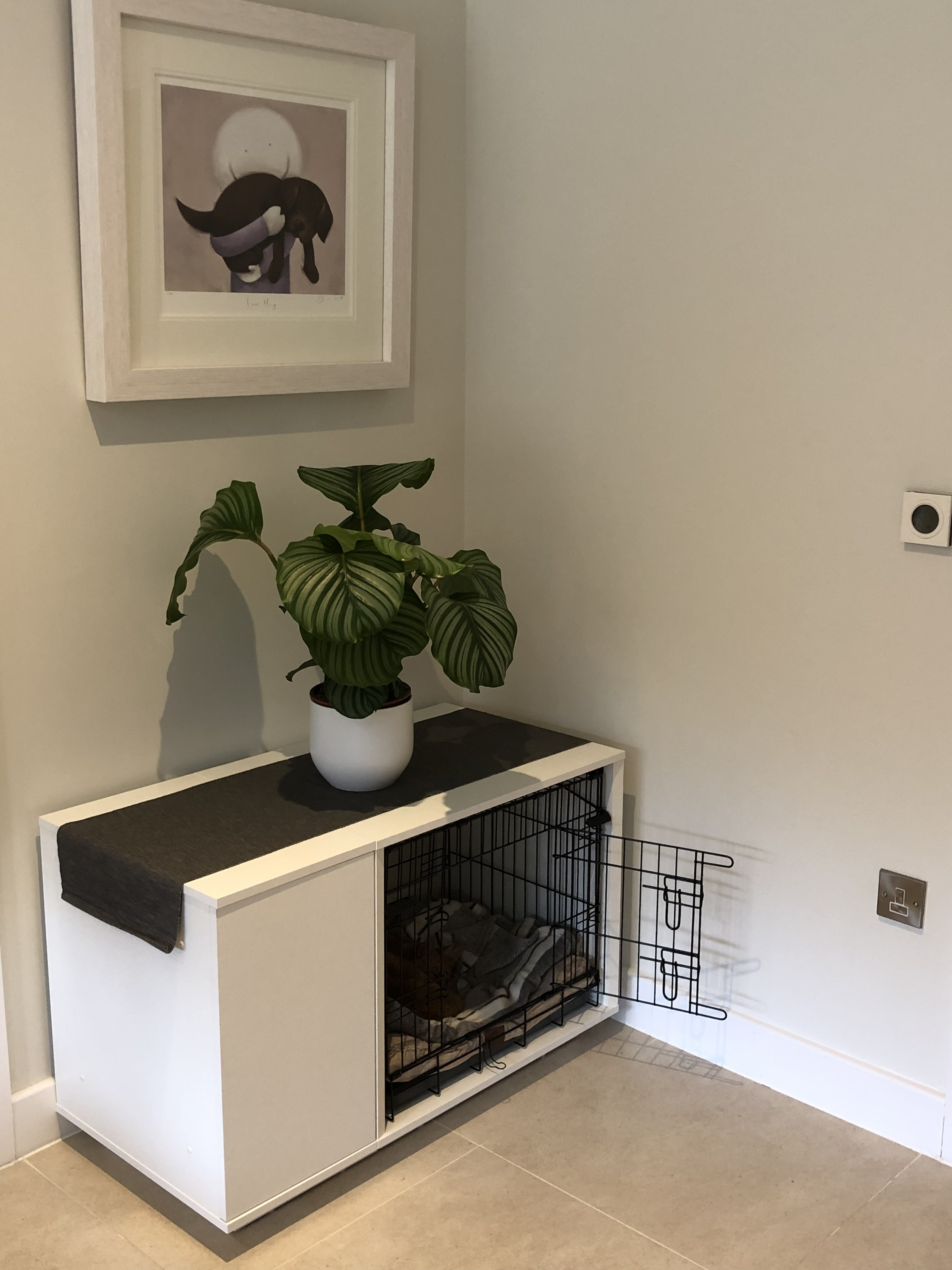 Bench Hond Woonkamer Fido Nook 24 Dog House Wit