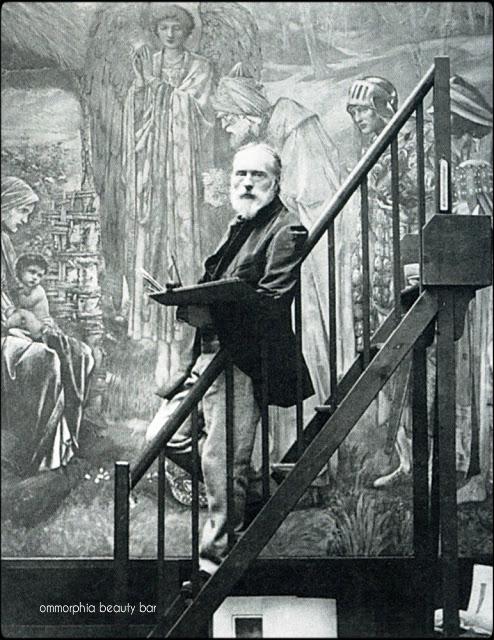 Burne_Jones_in_front_of_his_Star_of_Bethlehem_1890_Photographed_by_barbra_Leighton