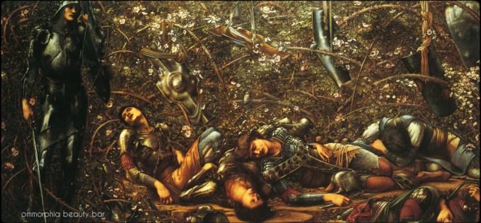 Burne_Jones_ThePrince_Enters_the_Rose_Bower